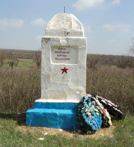 с. Летняя Ставка Туркменского р-на. Братская могила советских граждан, погибших от рук немецко-фашистских захватчиков в 1942 году.