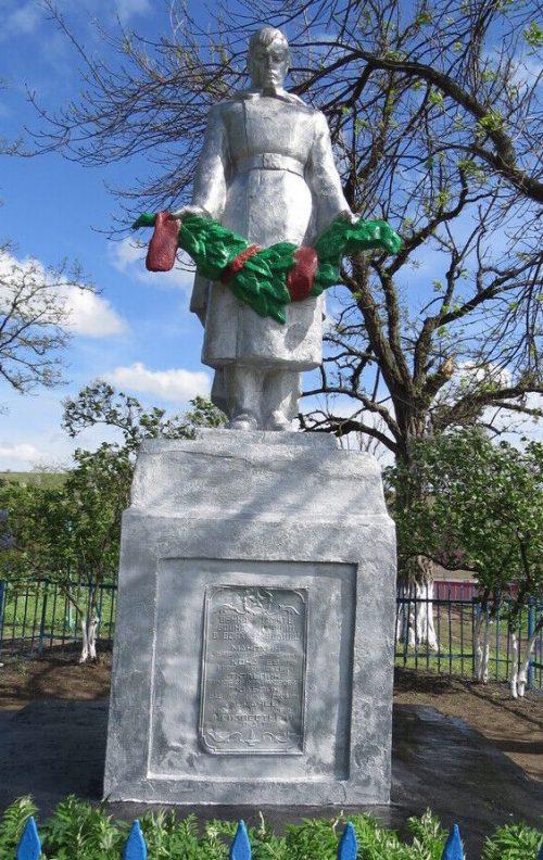 х. Сухой Изобильненского р-на. Братская могила воинов, погибших в годы Гражданской и Великой Отечественной войн.