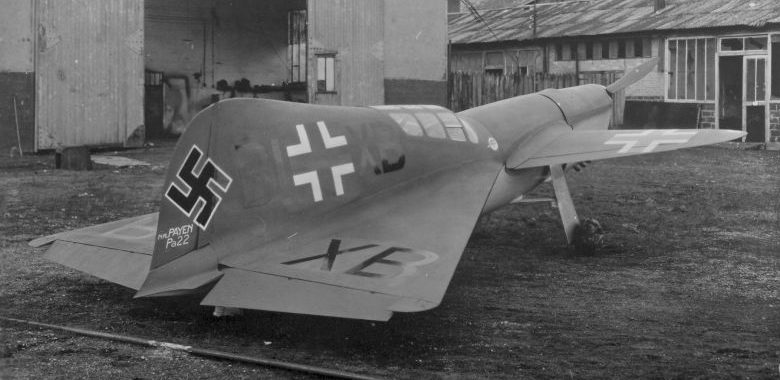 Экспериментальный истребитель с тандемным крылом Пайен Pa-22. 1942 г.
