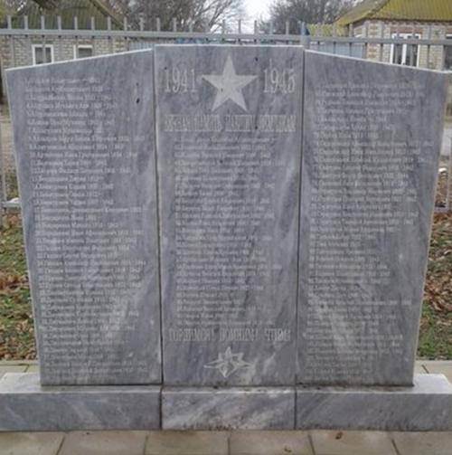 с. Озек-Суат Нефтекумского р-на. Памятник землякам, погибшим в годы войны.
