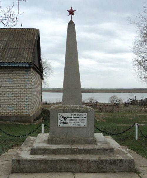 п. Поперечный Туркменского р-на. Памятник воинам-землякам, павшим в годы войны.