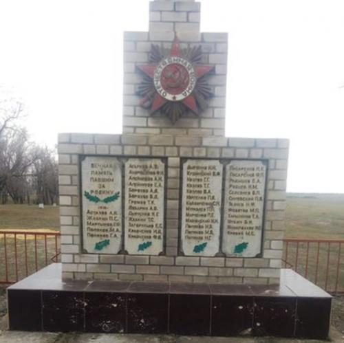 п. Троицкий Туркменского р-на. Братская могила советских воинов, погибших в годы войны.