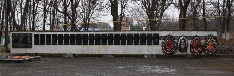 с. Этока Предгорного р-на. Мемориал воинам-землякам, погибшим в годы Гражданской и Великой Отечественной войн.