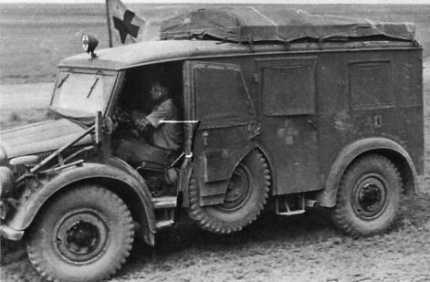 Санитарный фургон на базе «Horch 108» (Kfz-31). 1942 г.