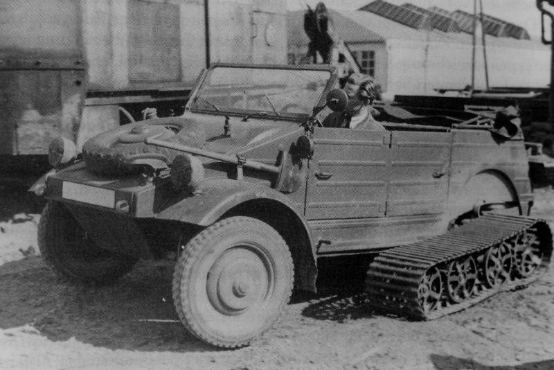 Немецкий экспериментальный полугусеничный автомобиль «Фольксваген-155». 1942 г.