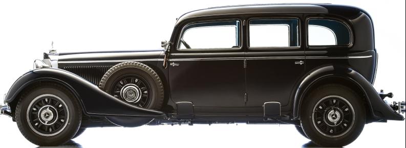 Лимузин «Mercedes-Benz 770 Pullman-Limousine» (W-07) для высшего руководства Германии. 1943 г.