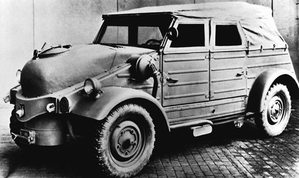 Автомобиль «Volkswagen Type-82 Wood Gas Generator». 1944 г.