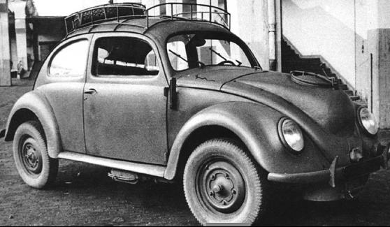 Автомобиль «Volkswagen Туре 82-Е» с газогенератором. 1944 г.