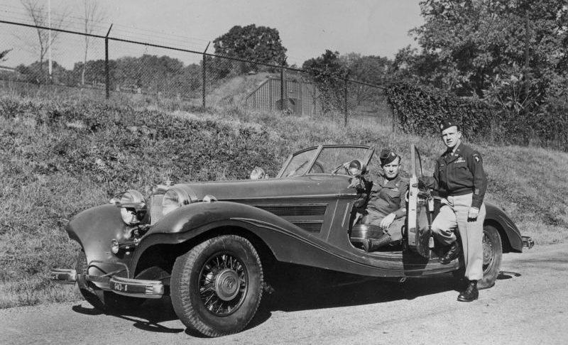 Автомобиль «Mercedes 540K Special Roadster Blue Goose» с бронированным кузовом и пуленепробиваемыми стеклами, принадлежавший рейхсмаршалу Герману Герингу. Май 1945 г.