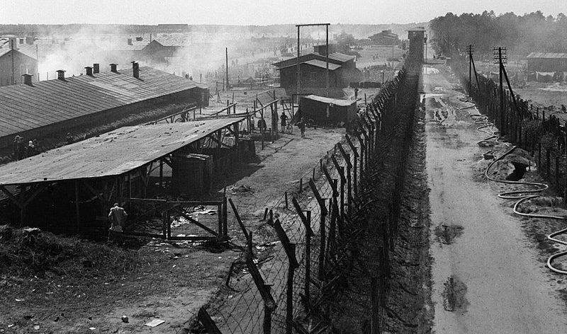 Вид на лагерь после освобождения.