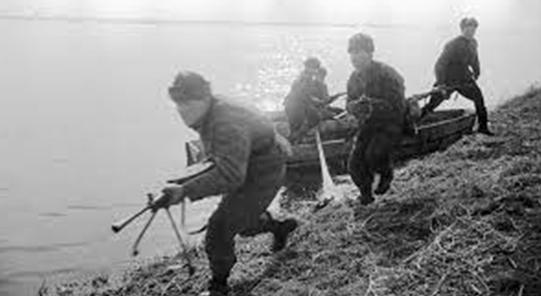 Форсирование реки Одры.