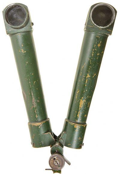 Вид спереди на зрительные трубы стереотрубы.