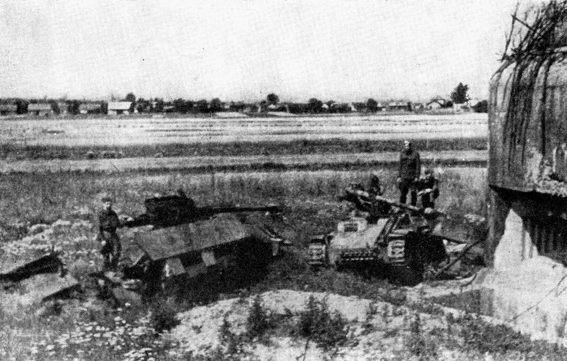 Захваченный опорный пункт немцев под Остравой.