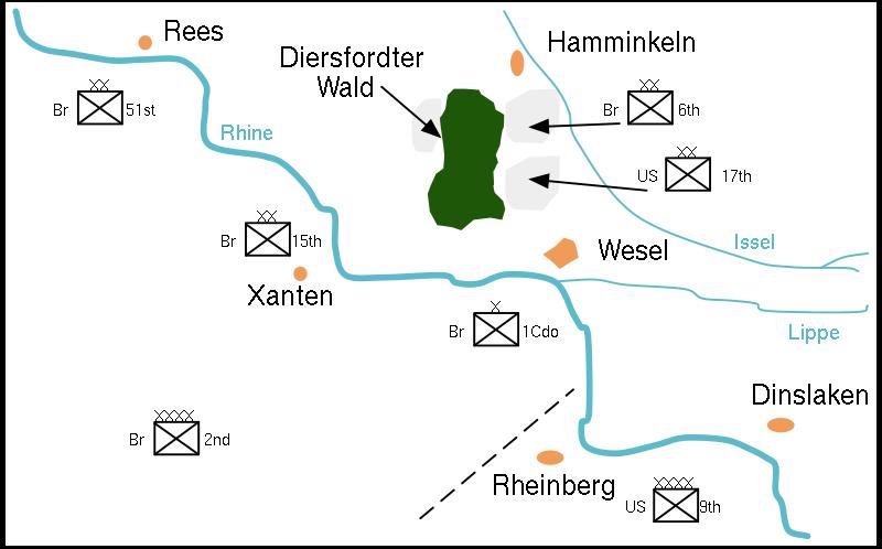 Запланированные зоны высадки десанта.