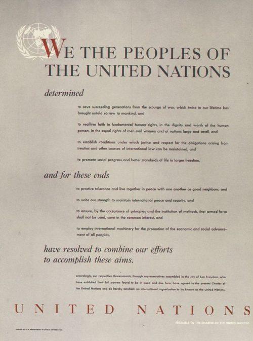 Преамбула Устава ООН на английском языке
