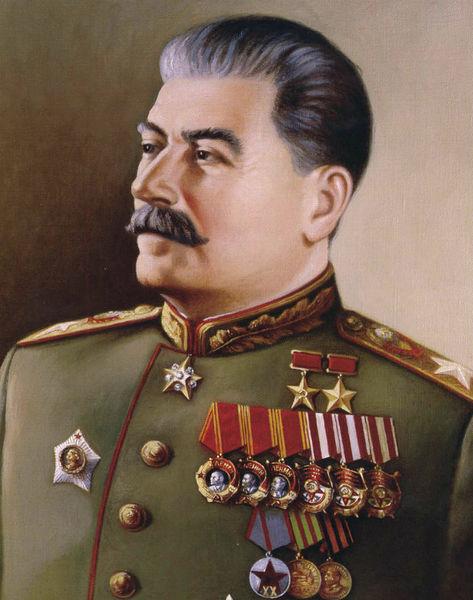 Портрет Сталина в парадной форме маршала.