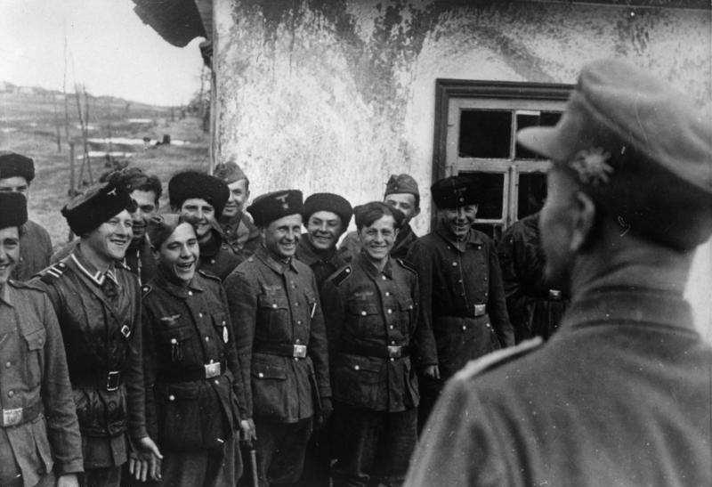 Казаки 15-го казачьего корпуса СС.