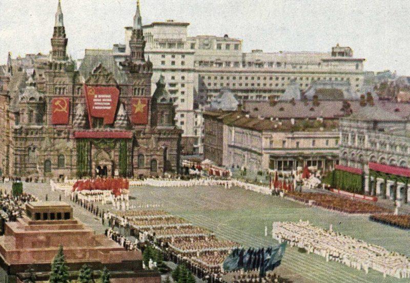Общий вид Красной площади.