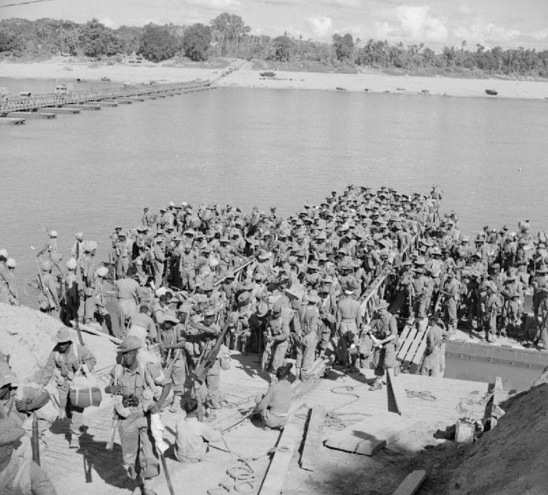 Высадка британского морского десанта.