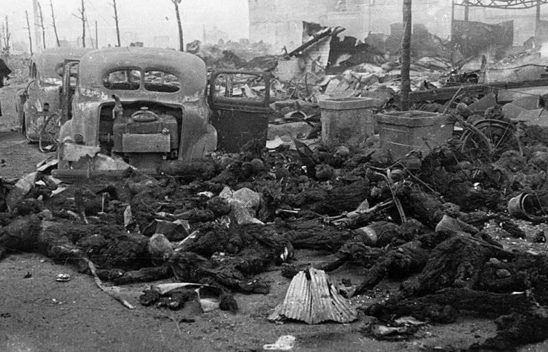Жертвы бомбардировки Хиросимы.