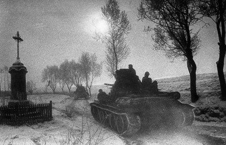 Советские войска в Западных Карпатах.