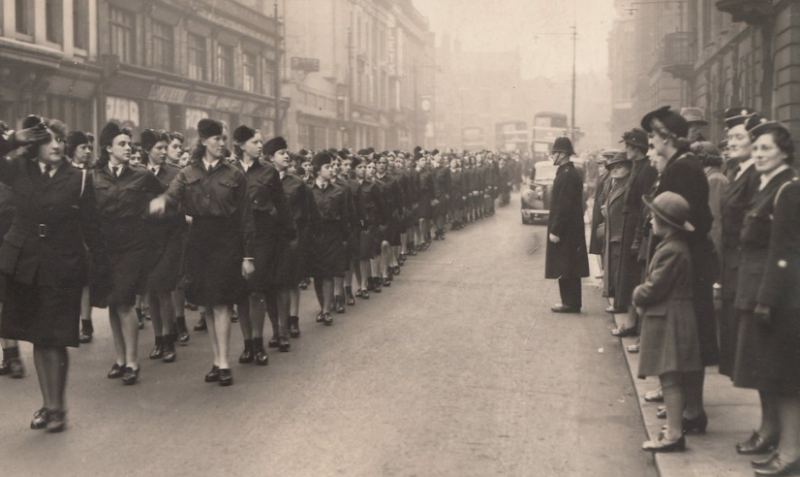 Парад Победы в Престоне 13 мая 1945 года.