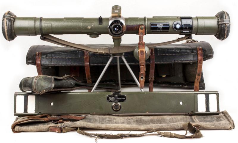 Полный комплект дальномера Em 34 длиной 0,7 метра.