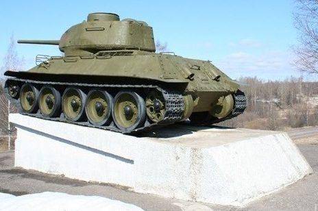 Памятник-танк Т-34.