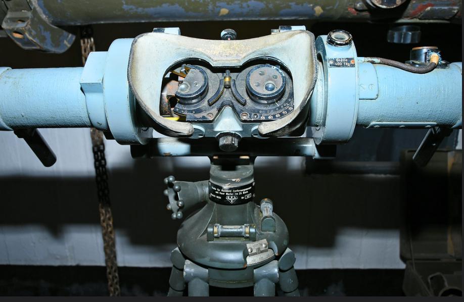 Дальномер Em 1,25m, изготовленный французской фабрикой OPL для учебных целей в немецкой армии.