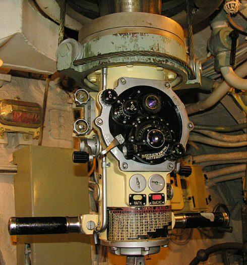 Зенитный перископ ПЗ-9 на подлодке Д-2.