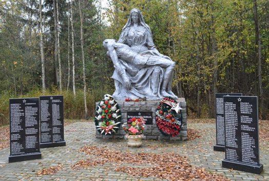 д. Ваши Великолукского р-на. Памятный знак воинам-землякам, погибшим в годы войны.