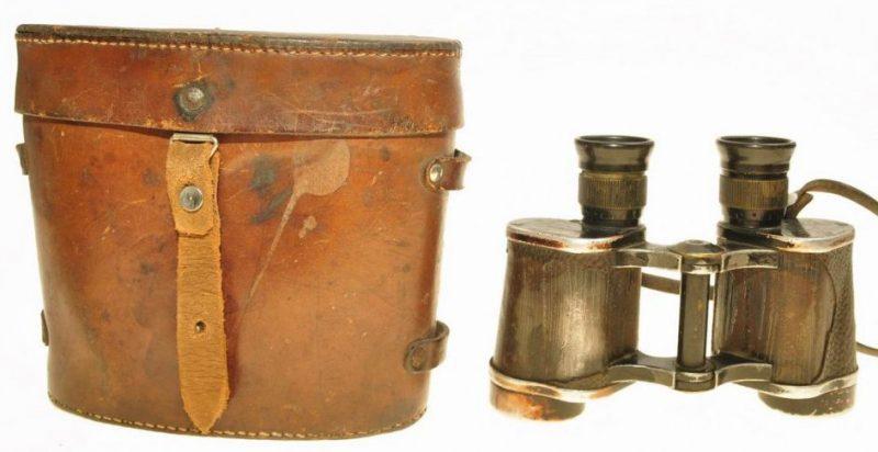Бинокль Кригсмарине Dienstglas 6х30 с кожаным кофром.