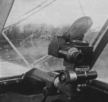 Коллиматорный пpицeл ПБП-1Б на штурмовике Ил-2.