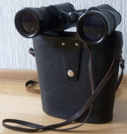 Морской бинокль 7х50 Zeiss Binoctar с кожаным футляром.