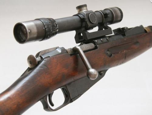 Снайперская винтовка СВМ-91/30 с прицелом ПЕ.