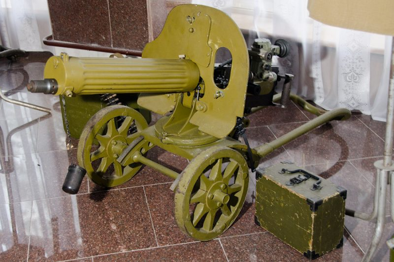 Пулемёт «Максим» образца 1910 года с оптическим прицелом ПП.