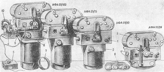 Рисунок серии аэрофотоаппаратов АФА-33.