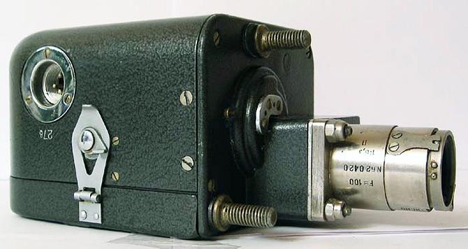 Фотокинопулемет «С-13» с объективом ФЭД-100.