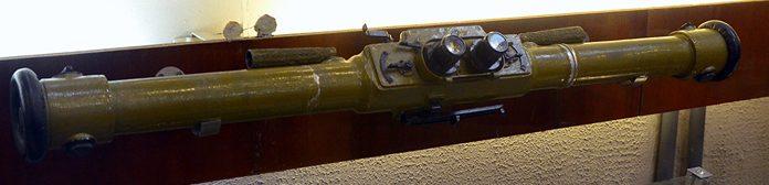 Зенитный стереоскопический дальномер ЗДН с базой 1 метр.