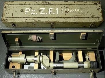 Прицел PzZF-1 в упаковочном ящике.
