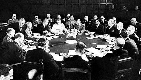 Заседание на Потсдамской конференции.