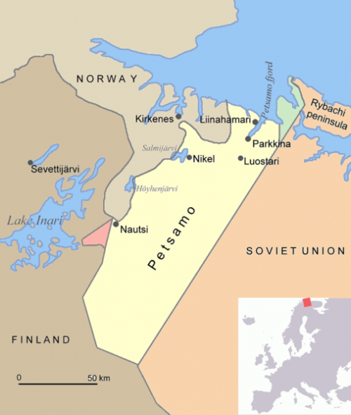 Район Петсамо на карте.