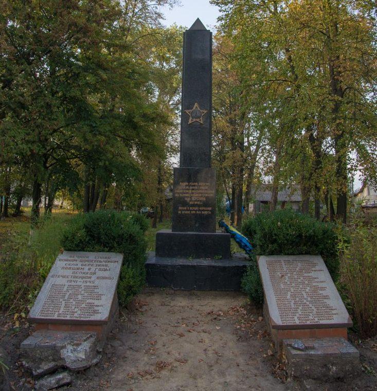 с. Березина Житомирского р-на. Памятник воинам-односельчанам, погибшим в годы войны.