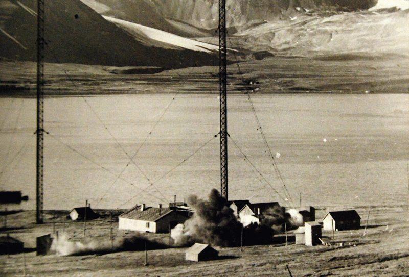 Взрыв немецкой радиостанции.