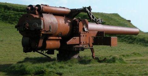 Британское орудие оставшиеся на Фарерах со времен войны.