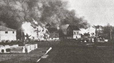 Пожар в деревне Киркенес.