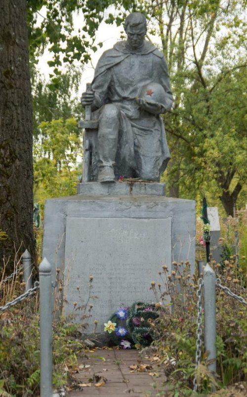 с. Волица Житомирского р-на. Памятник, установленный на братской могиле 28 советских воинов.