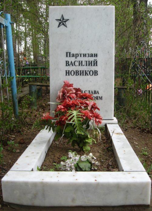 д. Дреча Опочецкого р-на. Могила партизана Васи Новикова
