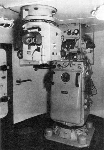 Дальномер, встроенный в систему управления огнем Mk19 на авианосце «Пенсильвания».