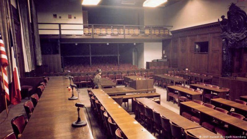 Так выглядит сегодня зал, где проходил Нюрнбергский процесс.